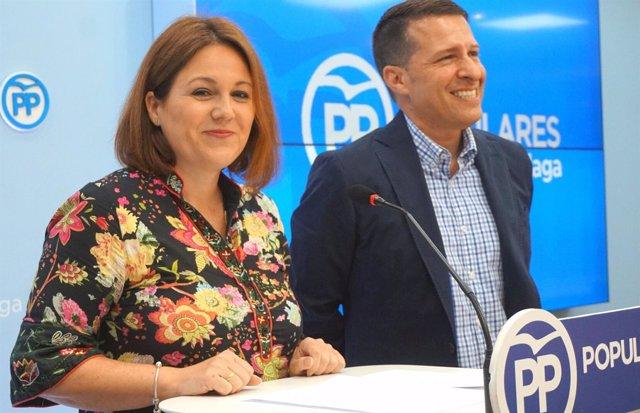 Rivas y Medina, del PP, en rueda de prensa
