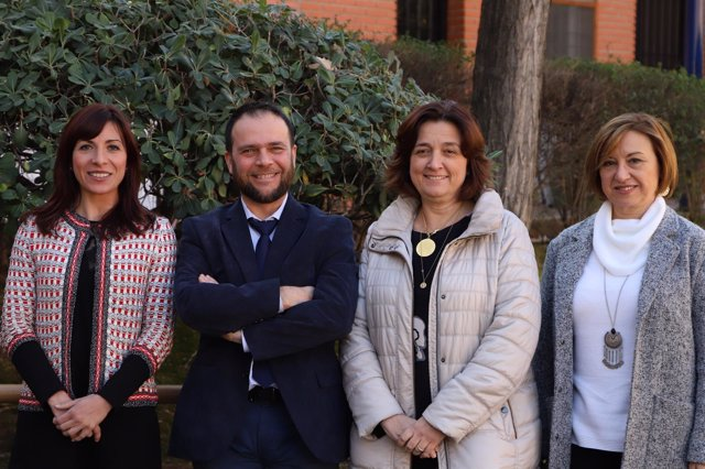Gloria Martínez Cousinou, Gabriel Ferrero ,  Mª Luz Ortega y Ana Hernández.