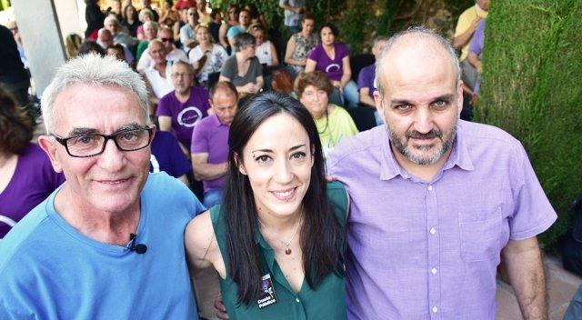 Acto de apertura de campaña de Isabel Franco en primarias de Podemos Andalucía
