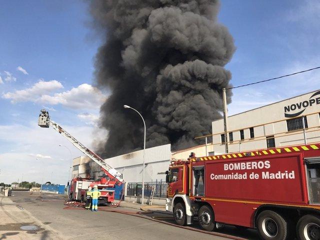 Incendio Getafe