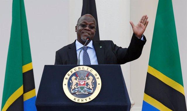 Foto de archivo del presidente tanzano, John Magufuli.
