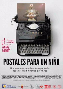 Cartel estreno en Madrid de 'Postales para un niño'