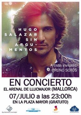 Cartel del concierto de Hugo Salazar en Mallorca