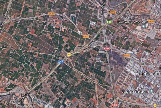 Carretera CV-17 en Castellón