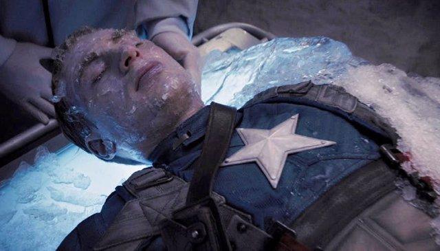 Capitán América congelado