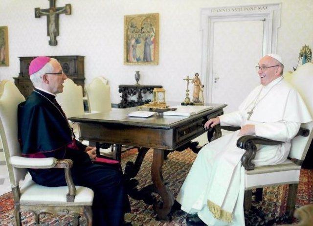 El Papa Francisco concede una audiencia privada al obispo de Tarazona