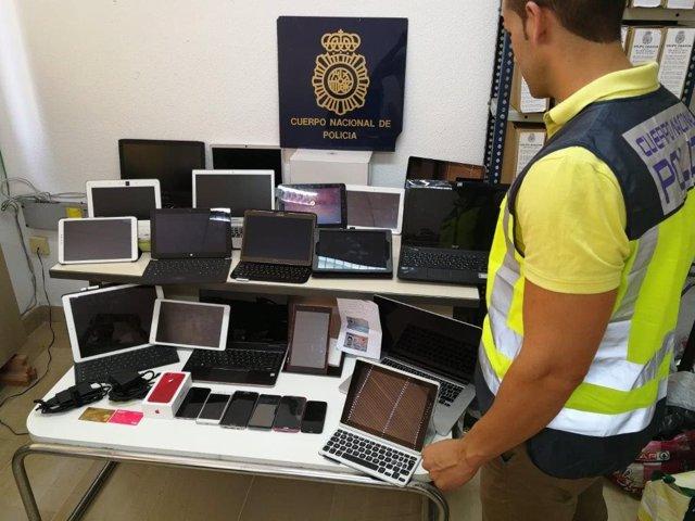 Objetos intervenidos por la Policía