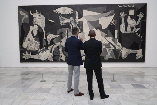 El Rey y Obama visitan El Guernica