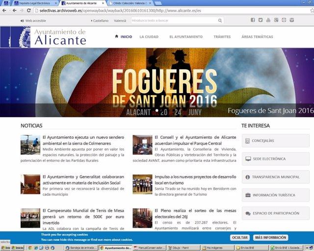 Archivo web de la Biblioteca Valenciana