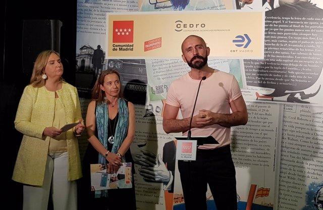 Jaime de los Santos durante la presentación de la campaña 'Libros a la calle'