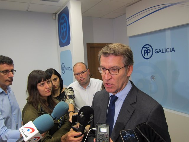 El presidente del PPdeG y titular de la Xunta, Alberto Núñez Feijóo