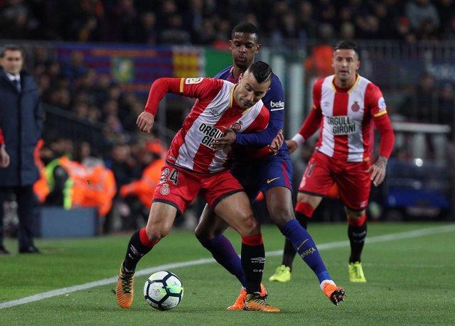 Borja García, en un partido ante el FC Barcelona