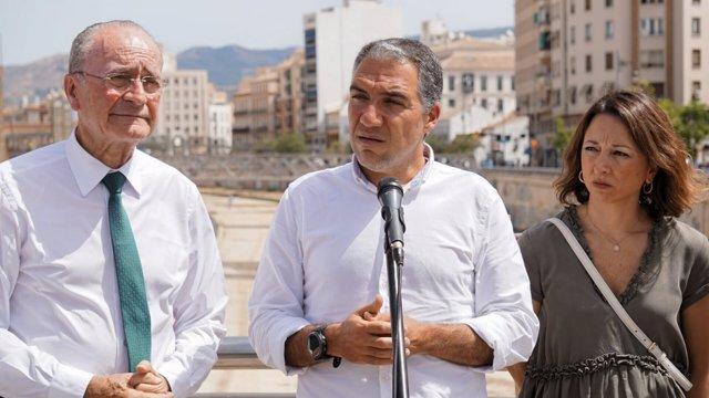 De la Torre, Elías Bendodo y Patri Navarro PP Málaga