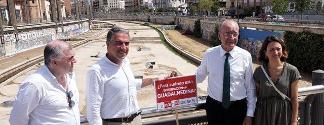Estacazo PP campaña incumplimientos rio guadalmedina Bendodo De la Torre