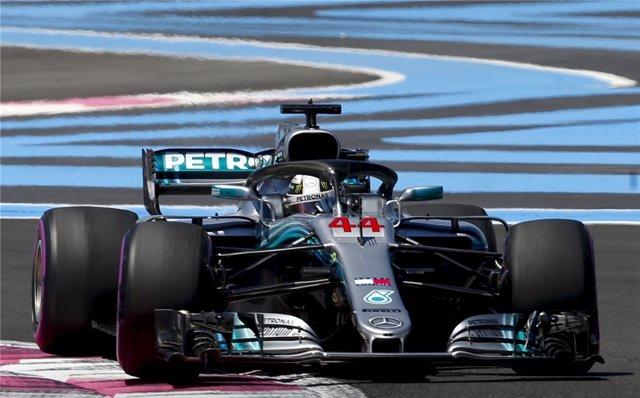 Lewis Hamilton, en el Gran Premio de Francia