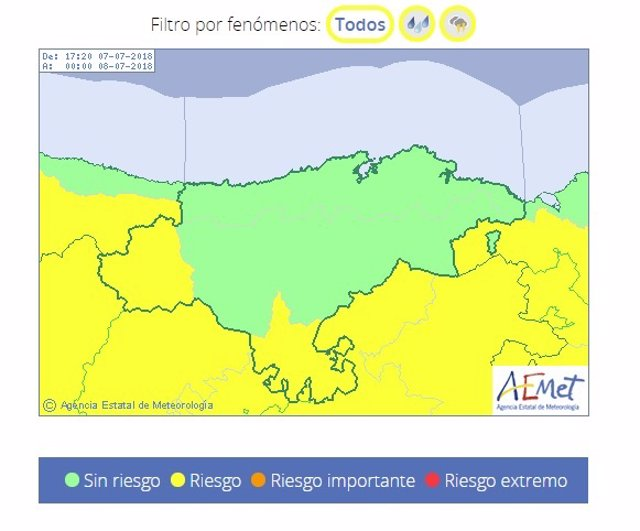 Liébana y la Cantabria del Ebro, en riesgo por lluvias y tormentas