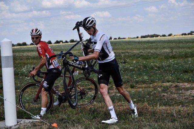 El ciclista inglés Chris Froome