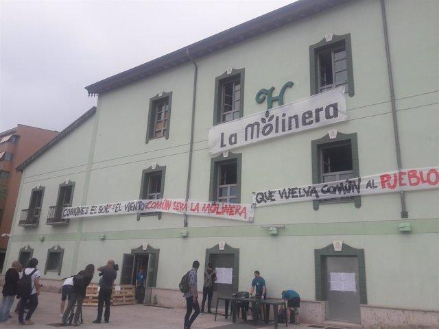 Valladolid.- Oupación del Hotel Marqués de la Ensenada