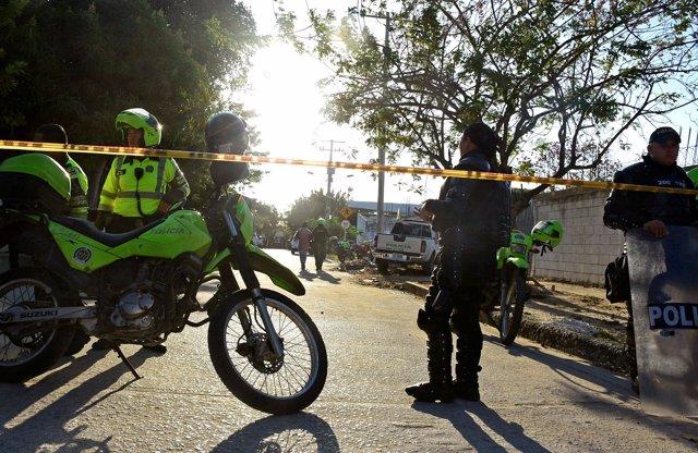 Policía en Barranquilla, Colombia