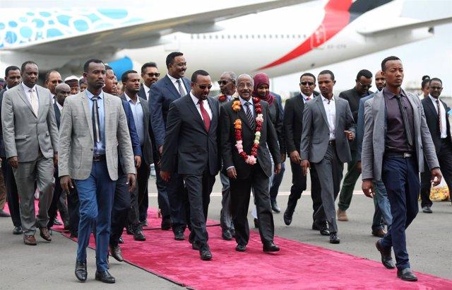 Visita del ministro de Exteriores de Eritrea, Osman Salé, a Etiopía