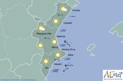Las temperaturas subirán ligeramente en este domingo en el que predominarán los cielos despejados en toda la Comunitat