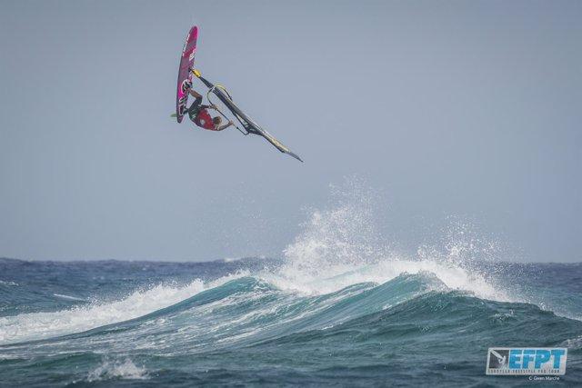 Campeonato Europeo de Windsurf en la categoría Freestyle