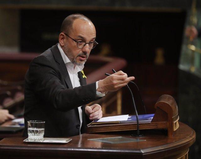 Carles Campuzano interviene en el pleno del Congreso sobre las pensiones