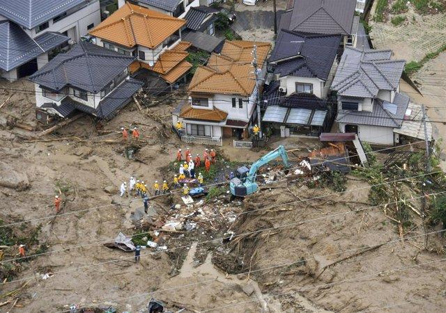 Lluvias torrenciales en Japón 2018