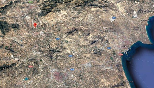 Localización de Novelda (Alicante)