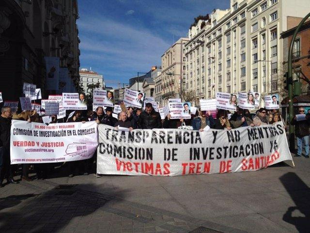 Protesta de las víctimas de Angrois