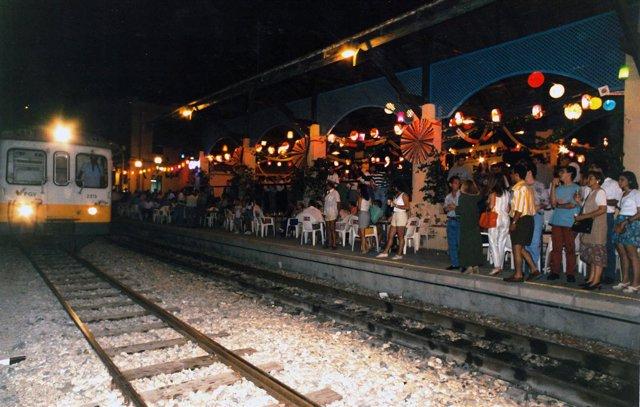 Puesta en marcha del Tramnochador en Alicante en 1988