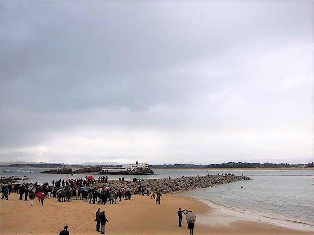 Protesta por los diques de La Magdalena