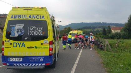 Heridos dos ciclistas en Valle de Villaverde al caerse cuando iban en pelotón