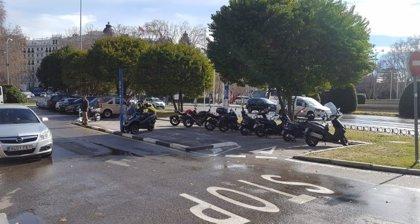 El distrito Centro de Madrid amplía un 111% las zonas de reserva de aparcamiento para motos en calzada