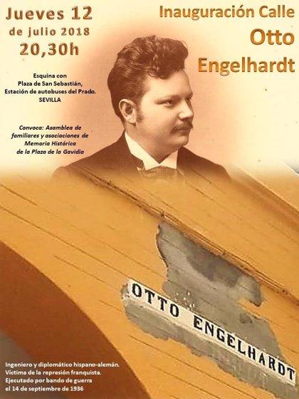 Sevilla estrena el jueves la rotulación de la calle dedicada al cónsul alemán Otto Engelhardt