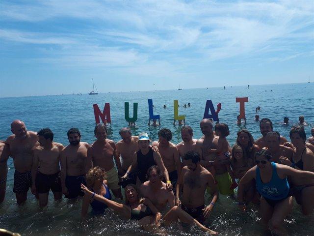 La fiesta 'Mulla't per l'Esclerosi Múltiple' en Barcelona