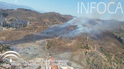 Declarado un incendio forestal en el paraje La Virreina, en Málaga capital