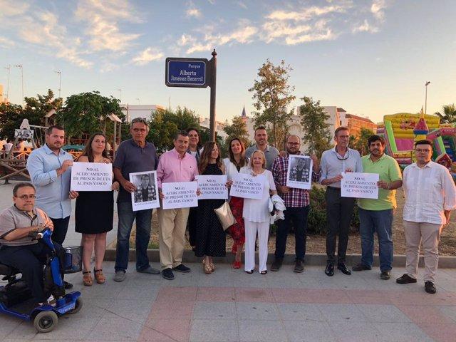 Acto del PP en Chipiona contra el acercamiento de presos etarras