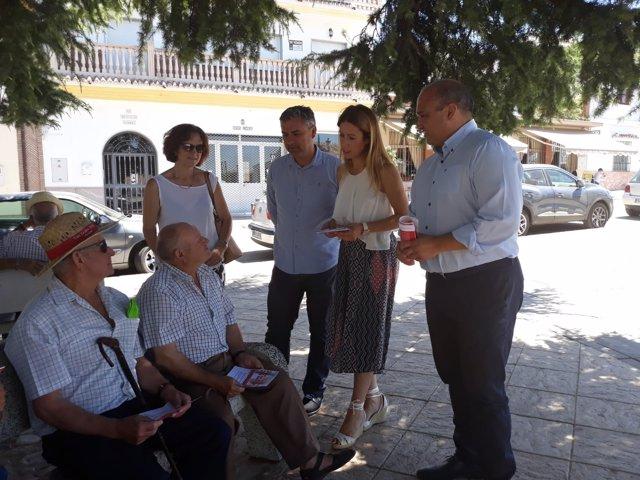 PSOE en Periana visita mayores