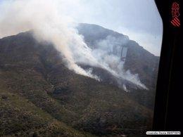 Incendio en el parque natural del Montgó