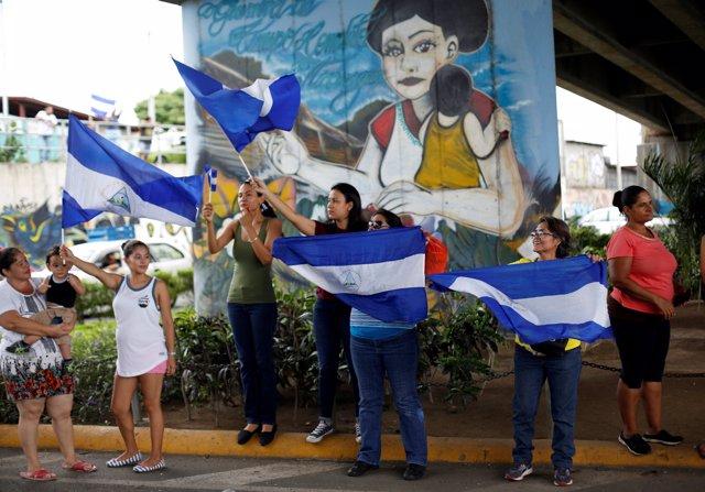 Manifestación contra el presidente de Nicaragua, Daniel Ortega