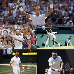 Nadal, Djokovic, Federer, Del Potro y Serena en Wimbledon