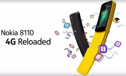 La nueva versión del teléfono Nokia 8110 empleará conectividad 4G y contará con WhatsApp
