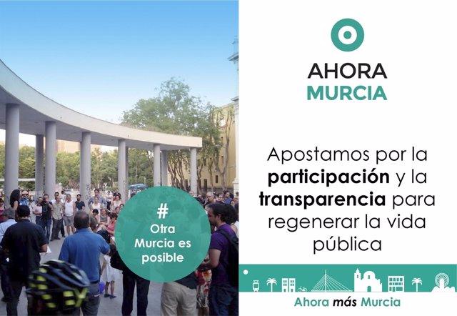 Ahora Murcia se presentará a las elecciones municipales de 2019