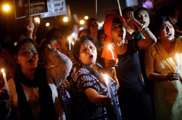 Vigilia contra la violación en Nueva Delhi