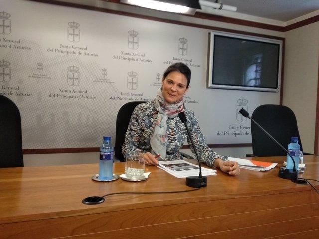 Diana Sánchez en rueda de prensa.