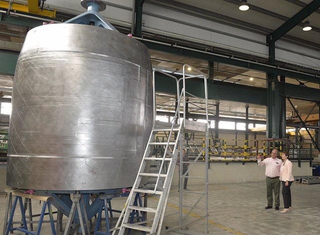 Visita del Gobierno Vasco a una empresa.