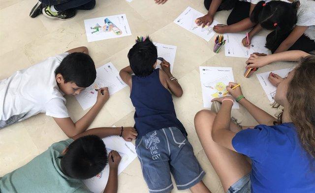 Niñas y niños realizan actividades en el BSC
