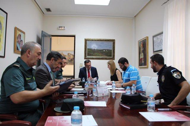 Conesa preside la Junta Local de Seguridad de Alhama