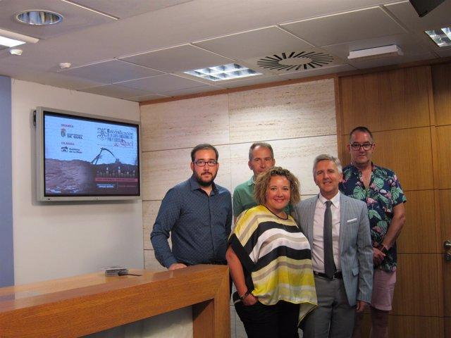 Rodríguez Osés junto con Rada, Murillo y Sancho antes de la presentación.